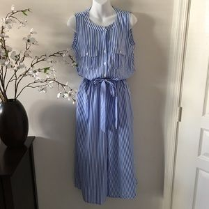 Spense Striped Sleeveless Summer Jumpsuit Size 8